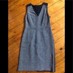 Ann Taylor Navy Two Tone Sleeveless Sheath Dress 2
